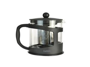 Heat-Resistant Borosilicate Glass Tea Maker with Stainless Steel Fine Mesh Filter