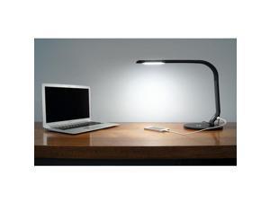 LED Desk Lamp with USB Charger Black