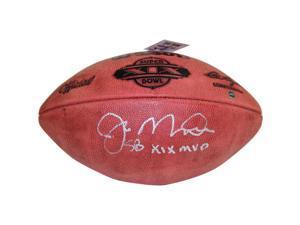 "Joe Montana Signed Super Bowl XIX Football with ""SB XIX MVP"" Inscription"