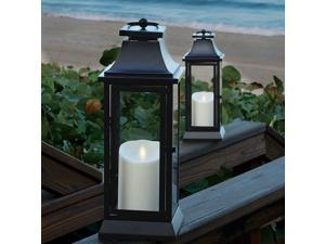 Heritage Series Lantern with Flameless Candle & Timer