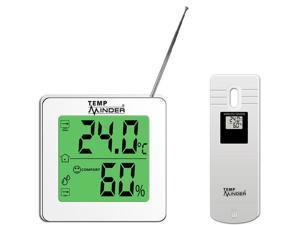 TempMinder Long Range Wireless Indoor & Outdoor Weather Station