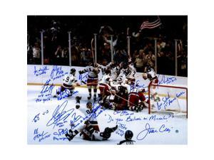 1980 USA Hockey Team Signed Photograph with Inscriptions (17 Signatures)
