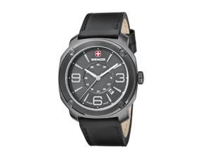 Wenger Men's Edge Watch with Leather Bracelet