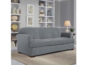 Serta Stretch Grid 2-Piece Slipcover for T-Sofa