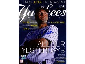 Derek Jeter Signed Yankees Magazine - September Issue