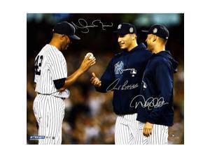 Derek Jeter, Andy Pettitte & Mariano Rivera Triple-Signed Photo