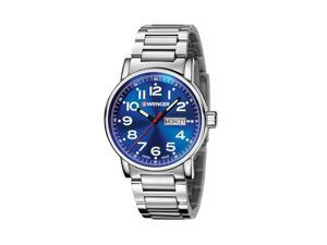 Wenger Attitude Mineral Crystal Water-Resistant Chronograph Men's Watch with Stainless Steel Bracelet and Quartz Movement