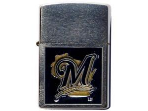 MLB Large Emblem Zippo Lighter - Milwaukee Brewers