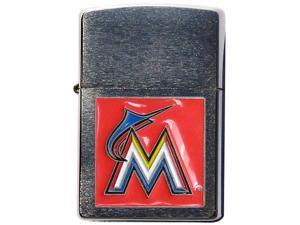 MLB Large Emblem Zippo Lighter - Miami Marlins