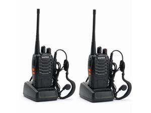 2PCS BaoFeng BF-888S&Earpiece UHF 400-470MHz Portable handheld 2-way Radio Walkie Talkie 16 Channels 1500Mah Li-ion Ameteur