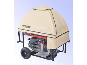 GenTent 10k Universal Fit Wet Weather Safety Canopy for Portable Generators - Assembled in USA - TanLight Color