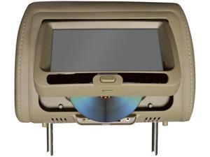 """Tview 7"""" In Headrest Monitor With Dvd Player Built In Speakers Remote Tan  22.00in. x 12.00in. x 7.00in."""