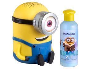 AIR VAL INTERNATIONAL Minions Coffret: Shower Gel & Shampoo 200ml/6.7oz + Money Box For Women  2pcs
