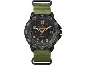 Timex Expedition Rugged Resin Green Slip Thru Black Dial
