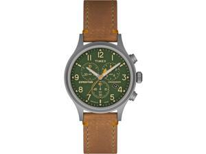 Timex Expedition Scout Chrono Tan Strap Green Dial