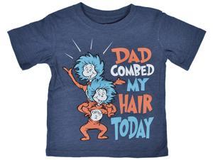 Dr. Seuss Toddlers Thing T-Shirt Dad Combed My Hair Today Fathers Day Kids Print