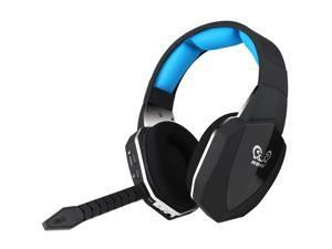 HUHD HW-398-BU 2.4Ghz Optical Wireless Gaming Headset for XBox 360, PS4/3, PC - Noise Cancelling, Detachable Microphone