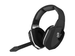 HUHD HW-398-BK 2.4Ghz Optical Wireless Gaming Headset for XBox 360, PS4/3, PC - Noise Cancelling, Detachable Microphone