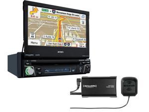"Jensen VX7012 7"" flip-out Navigation with Sirius XM SXV300V1 Tuner package"