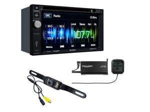 Jensen VX4022 DDIN multimedia receiver with Sirius XM SXV300V1 Tuner and included backup camera