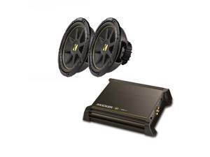 "Kicker Refurbished DX250.1 Amplifier Dual 10C104 10"" Sub Bundle"