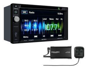 Jensen VX4022 DDIN multimedia receiver with Sirius XM SXV300V1 Tuner package
