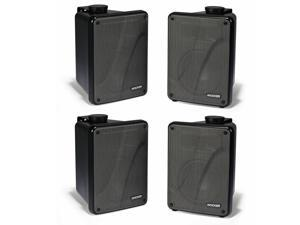 Kicker 11KB6000B Black Outdoor Speaker Bundle - 4 Speakers