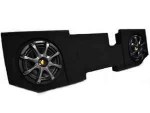 "Kicker for Dodge Ram Quad / Crew Cab 02-15 Package - Dual 10"" Comp subs in under seat box with Grills"