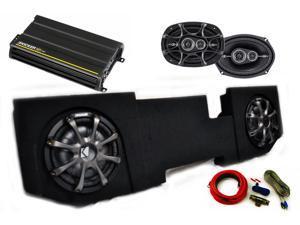 "Kicker for Dodge Ram Quad/Crew Cab 02-15 Package - Dual 10"" CVT subs in box, DS 6x9s, 300 Watt CX Amp, Grills, Wire Kit"
