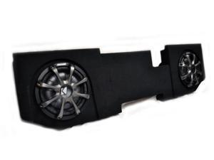 "Kicker for Dodge Ram Quad / Crew Cab 02-15 Package - Dual 10"" CVT subs in under seat box with Grilles"