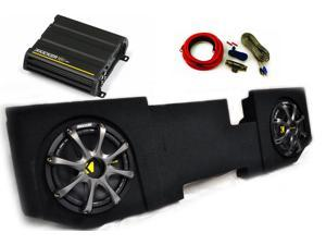 "Kicker for Dodge Ram Quad / Crew Cab 02-15 -  10"" Comp D Subs under-seat w/ Kicker Grilles, 300 watt Amp & Wire kit"