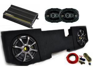 """Kicker for Dodge Ram Quad/Crew Cab 02-15 12"""" Comp D Subs under-seat w/ Kicker Grilles, CS 6x9s, 300 watt Amp & Wire kit"""