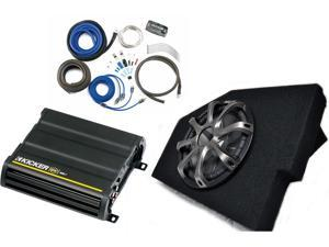 "Kicker for Dodge Ram Quad/Crew 02-15 - 10"" CompR in box W/ protective Grille, CX600.1 amp, and wiring kit"