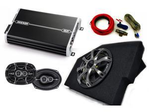 "Kicker for Dodge Ram 02-15 Loaded box w/10"" Comp woofer w/ grille, 4 channel Amp, pair of 6x9 DS speakers w/ wiring kit."