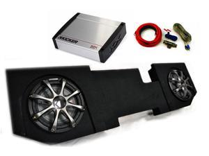 "Kicker for Dodge Ram Quad / Crew Cab 02-15 - Dual 12"" CompRT subs in box, 800 Watt KX Amp, Grilles & Wire Kit"
