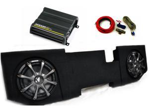 "Kicker for Dodge Ram Quad / Crew Cab 02-15 - Dual 10"" CompR subs in box, 600 Watt CX Amp, Grilles & Wire Kit"