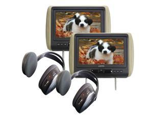 """(2) Audiovox AVXMTGHR9HD 9"""" Headrest Monitor Systems w/ Built in DVD Player"""