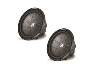 "Kicker CompR package - Two 10"" CompR Subwoofers Dual 4 Ohm 40CWR104"