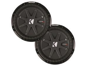 "Kicker CompRT package - Two 12"" CompRT Subwoofers Dual 2 Ohm 40CWRT122"