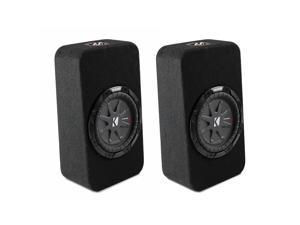 Kicker Loaded Enclosure Bundle - Two CompRT 8 Inch Loaded Enclosures 40TCWRT82. 2-ohms each