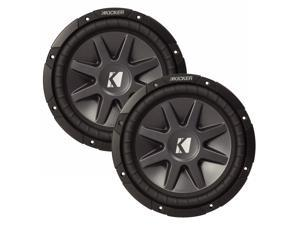 "Kicker 12"" CVR package - Two Kicker 10CVR122 12 Inch CompVR Series Dual Voice Coil Subwoofers"