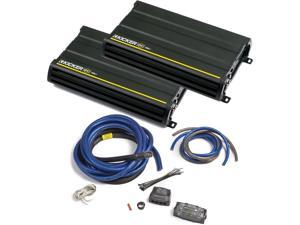 Kicker CX amplifier package - Two Kicker CX-Series 1200 Watt Class-D Monoblock Amplifiers 12CX12001