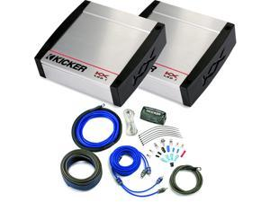 Kicker KX Amplifier package - Two Kicker KX 400 Watt Class-D Monoblock Amplifiers and Kicker wiring kit
