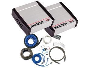 Kicker KX Amplifier package - Two Kicker KX-Series 200 Watt Full-Range Class-D Stereo Amplifiers and wiring kit