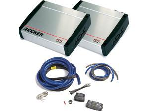 Kicker KX Amplifier package - Two Kicker KX-Series 1200 Watt Class-D Monoblock Amplifier 40KX12001 + PKD1 1/0 wiring kit