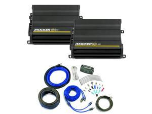 Kicker CX amplifier package - Two Kicker CX-Series 600 Watt Class-D Monoblock Amplifiers 12CX6001