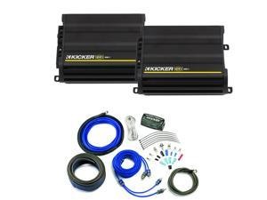 Kicker CX amplifier package - Two Kicker CX-Series 300 Watt Class-D Monoblock Amplifiers 12CX3001