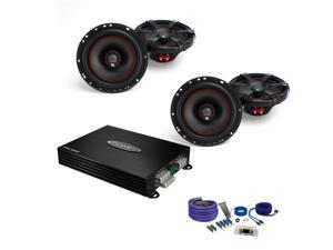 MB Quart XK1-116 Coaxial Speakers, Jensen POWER400X4 Amp  and Amp Kit