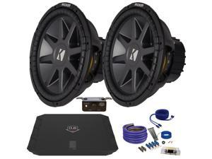 "Kicker CVR152 15"" Bundle with DUBA11000D 1100 Watt Amplifier + Wire Kit"