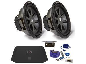 "Kicker CVR122 12"" Bundle with DUBA11000D 1100 Watt Amplifier + Wire Kit"